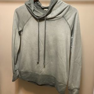 Army green mock neck Maurices hoodie